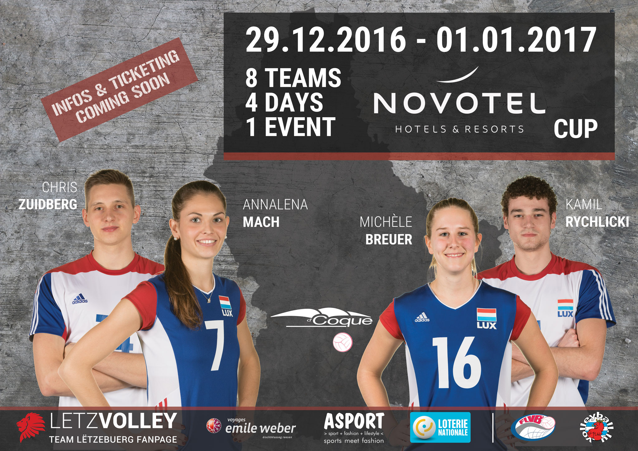 2017 Team Lëtzebuerg - Novotel Cup Save The Date
